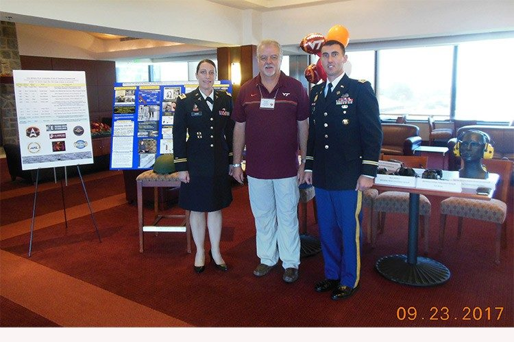 Major Kara Cave, Dr. John Casali, and Lieutenant Colonel Brandon Thompson