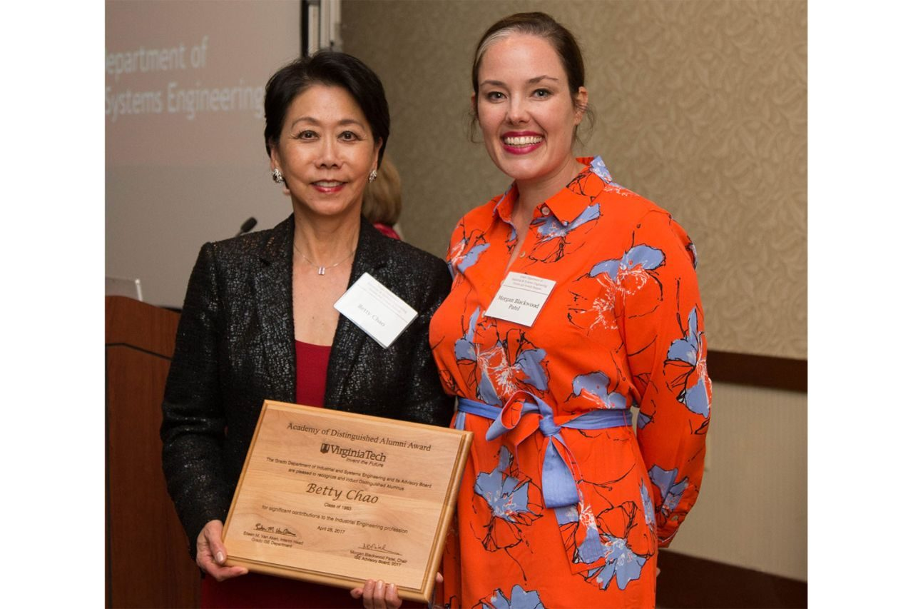 Dr. Betty Chao (left) and Morgan Blackwood Patel