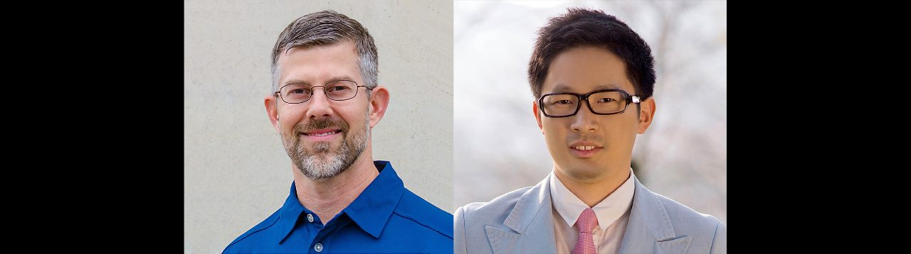 Fall 2017 new faculty: Michael Madigan(left) and Weijun Xie