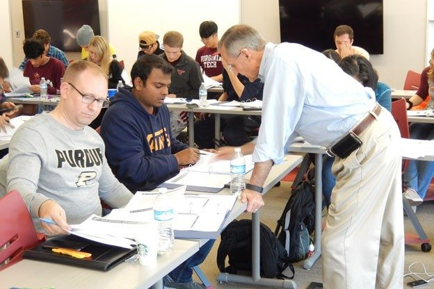 Fall 2016 Certification Course hosted by IISE at VT. Shown in the picutre is IISE Staff member and trainer, Doug Long.