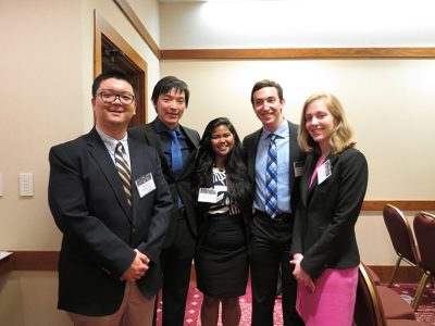 Team 39 (Matthew Lee Cheatham, Ruihua Li, Leigh Raven Mathewes, Kyra Hikari Vila) with Faculty Advisor Dr. Ran Jin