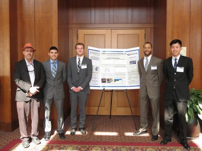 Team 48 (Warren Davis, Gus Donner, William Kwan, Dominik Alexander Takenaka) with Faculty Advisor Dr. Brian Kleiner