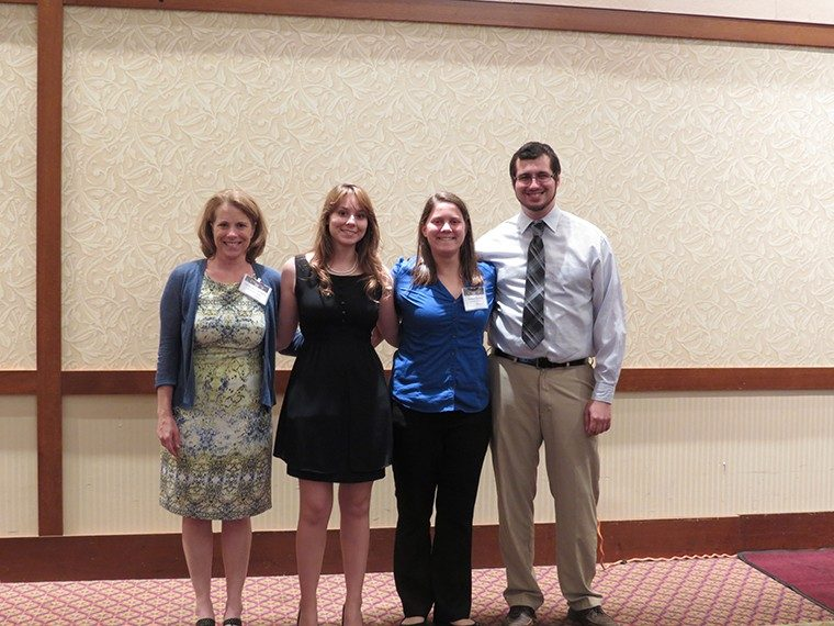 Undergraduate Research Award 2nd place: Lauren Young, Hannah Zauner, Coleman Merenda with Dr. Eileen Van Aken (Advisor: Dr. Joe Gabbard)