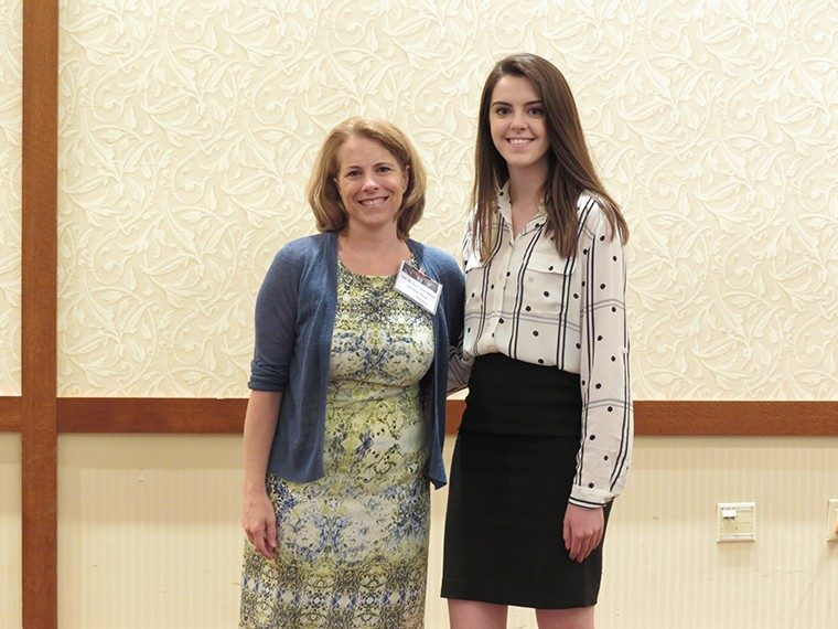 Undergraduate Research Award 1st place: Carolyn Elliott with Dr. Eileen Van Aken (Advisor: Dr. Alejandro Salado)