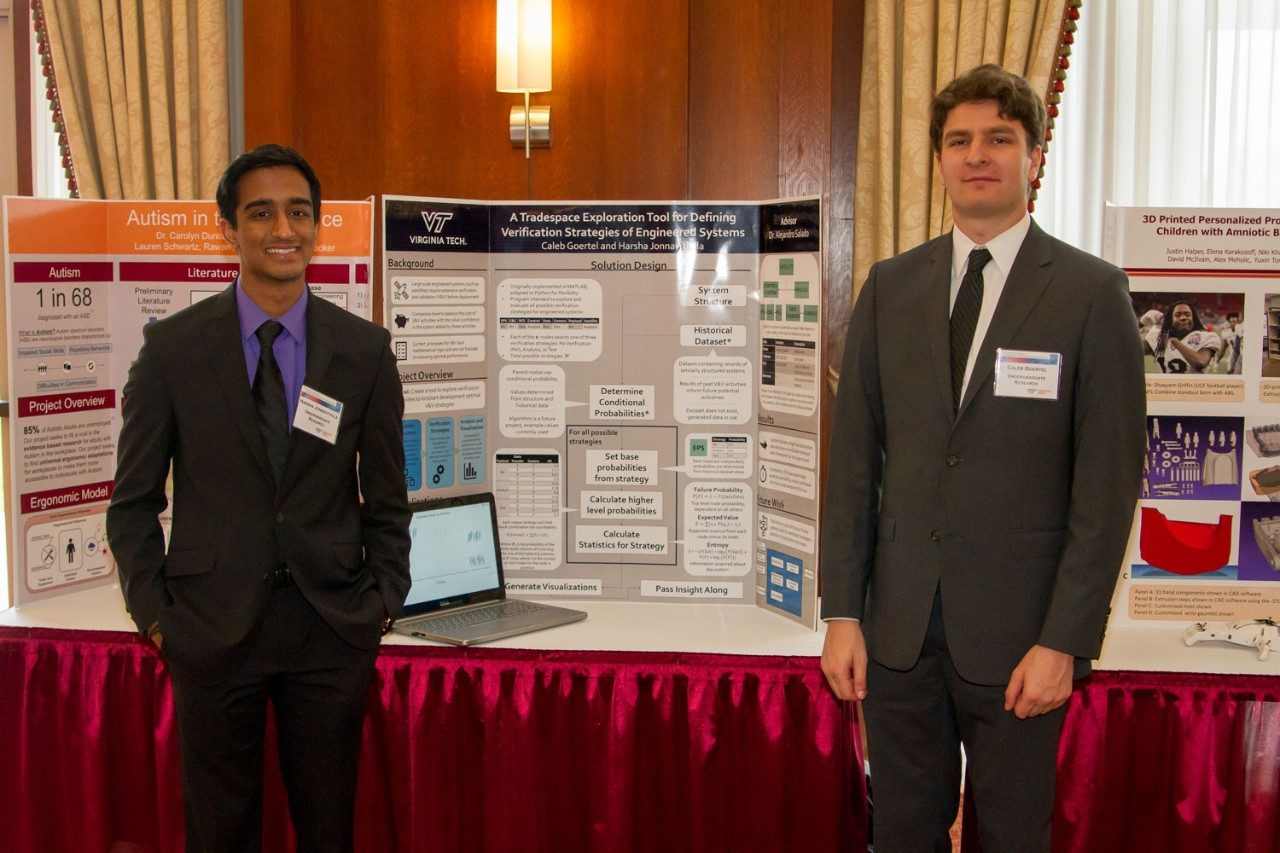 Harsha Jonnavithula (left) and Caleb Goertel