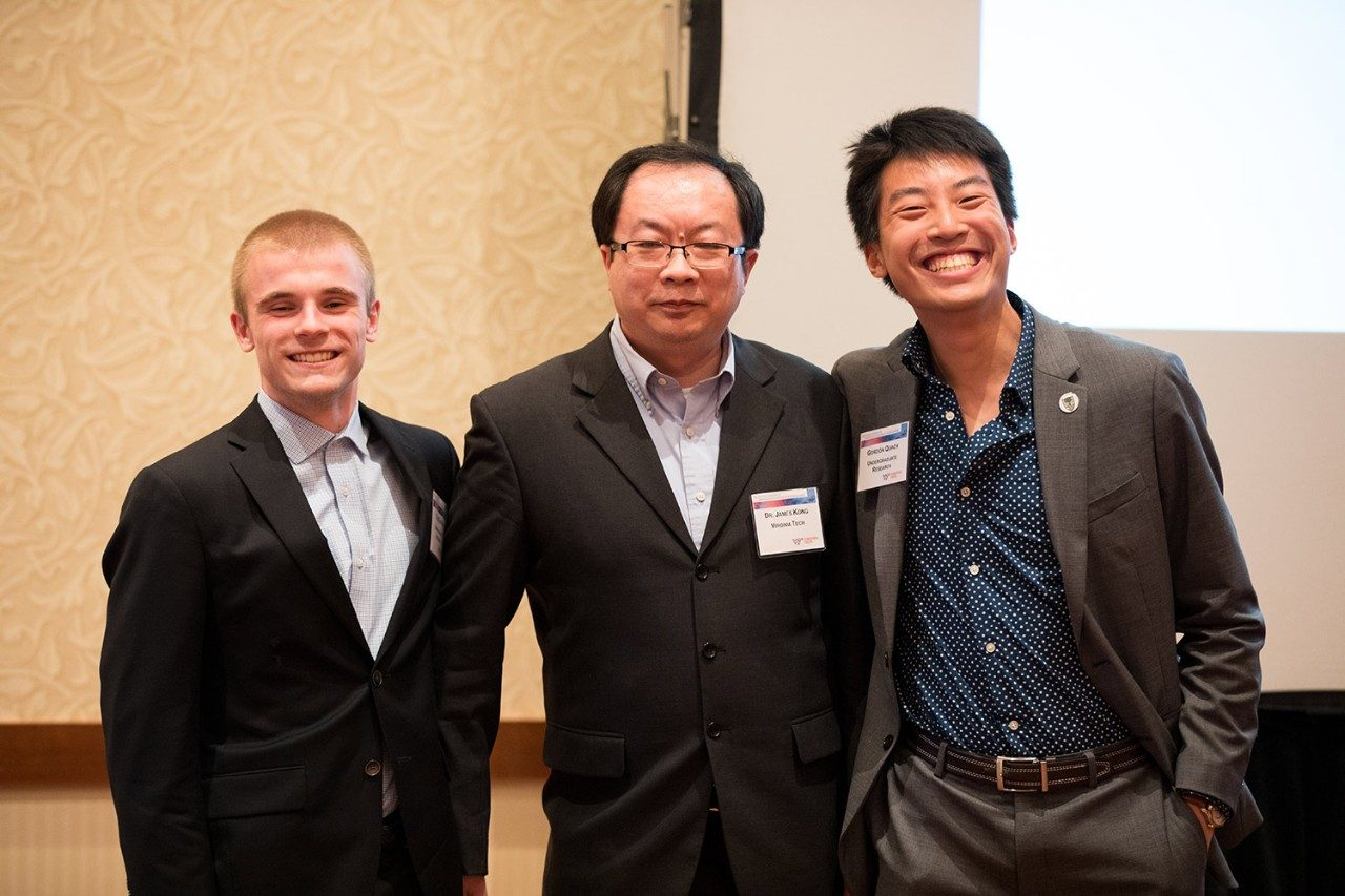 (from left) Tyler Entner, Dr. James Kong, and Gordon Quach