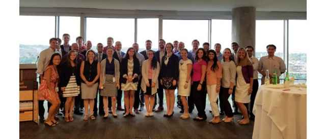 Alumni networking reception at the Deloitte Arlington office in July 2016